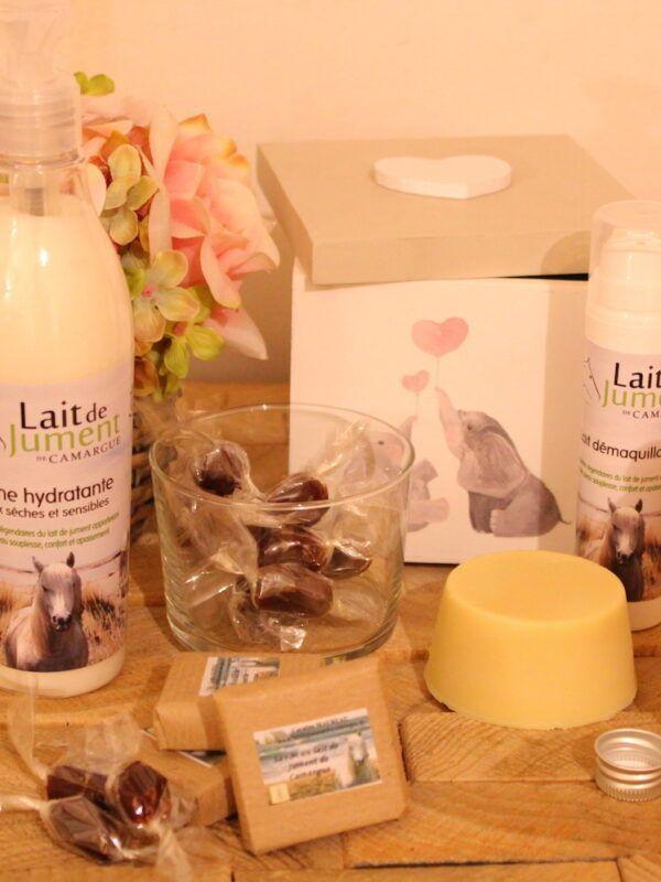 cadeau naissance au lait de jument